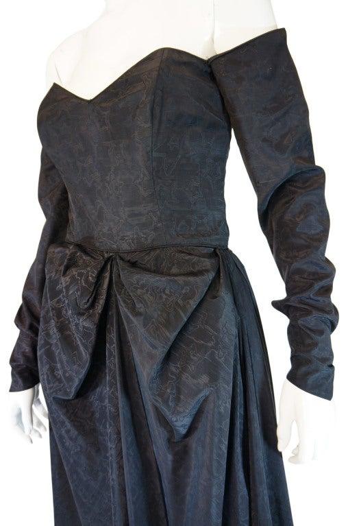 1950s Early Ceil Chapman Bustle Gown 7