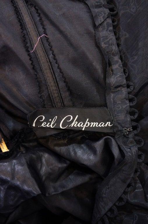1950s Early Ceil Chapman Bustle Gown 10