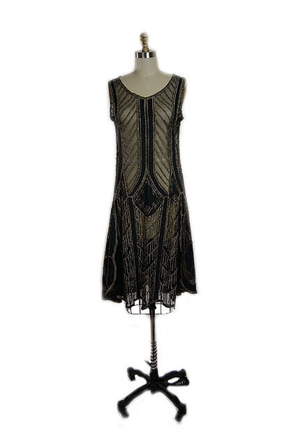 1920s Metallic Thread on Silk Flapper Dress image 2