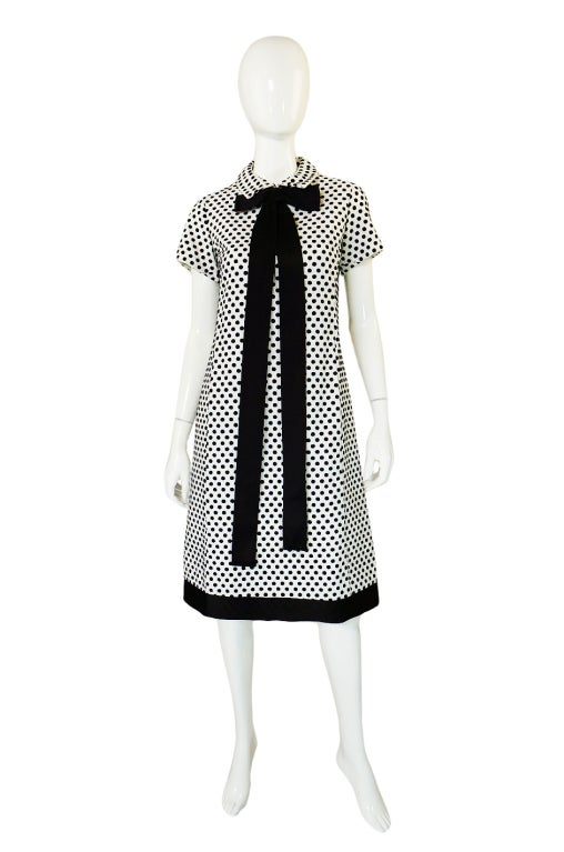 1960s Dotted Geoffrey Beene Shift Dress 2