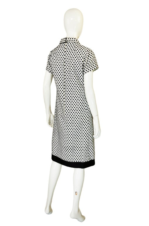 1960s Dotted Geoffrey Beene Shift Dress 3