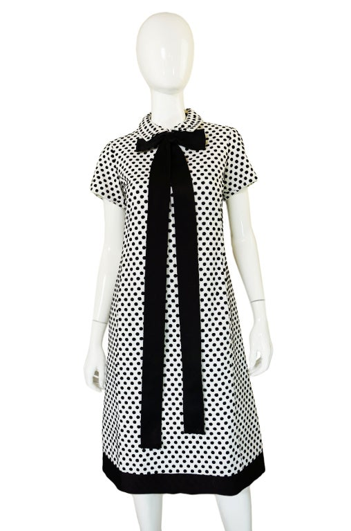 1960s Dotted Geoffrey Beene Shift Dress 4