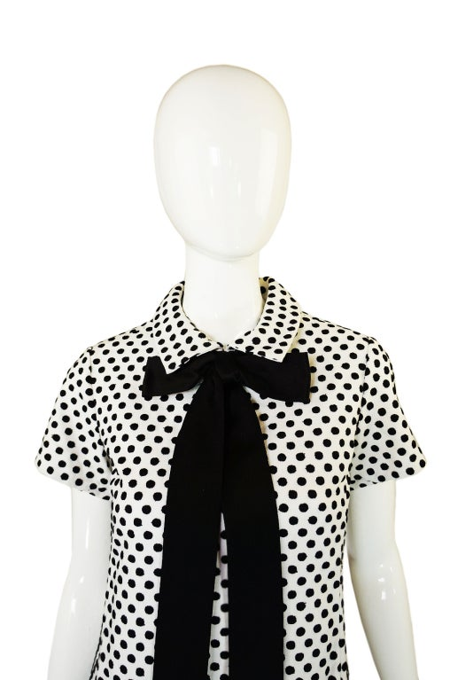 1960s Dotted Geoffrey Beene Shift Dress 5