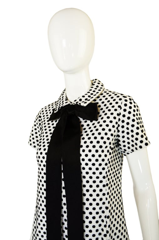 1960s Dotted Geoffrey Beene Shift Dress 6