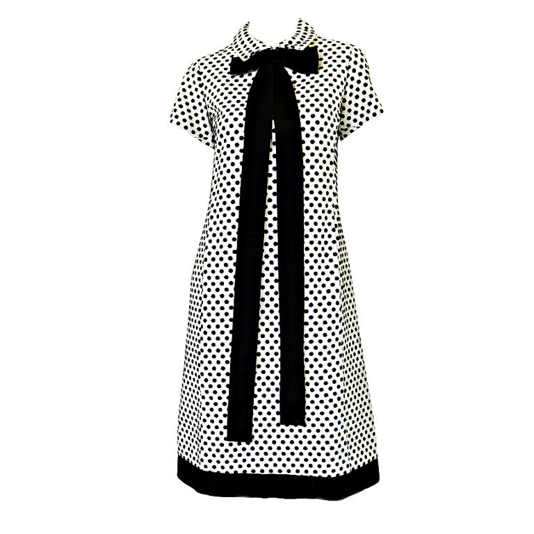 1960s Dotted Geoffrey Beene Shift Dress 1