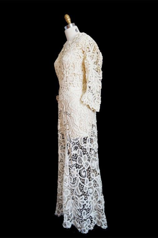 c1905 amazing battenburg lace dress at 1stdibs