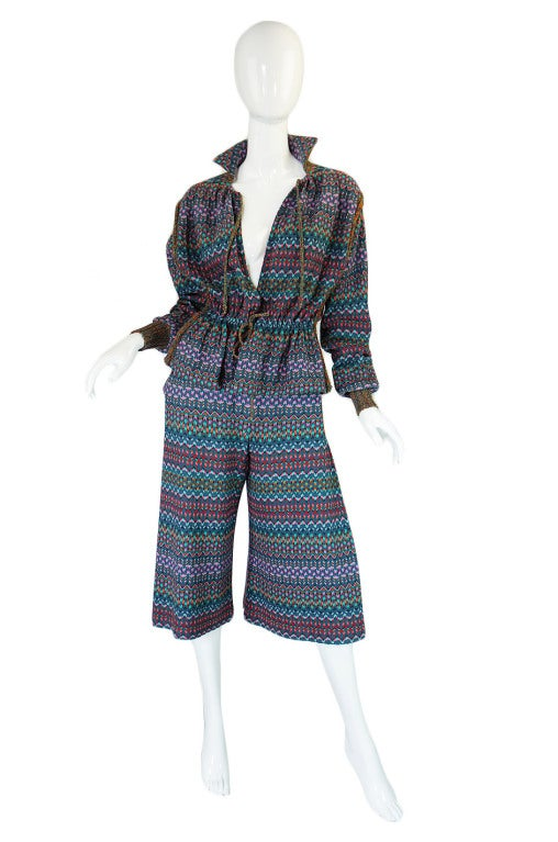 1970s Missoni Knit Jacket & Culotte Set image 2