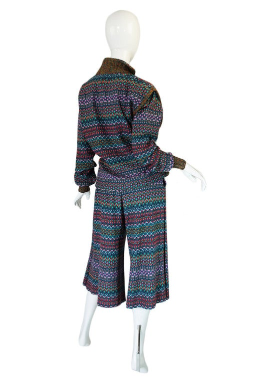 1970s Missoni Knit Jacket & Culotte Set image 3