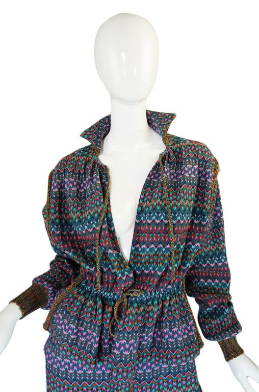 1970s Missoni Knit Jacket & Culotte Set image 4