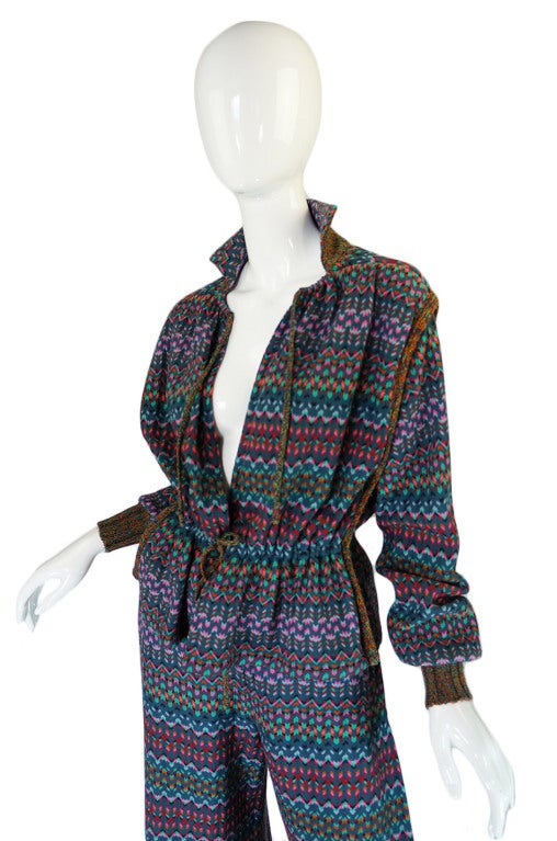 1970s Missoni Knit Jacket & Culotte Set image 5