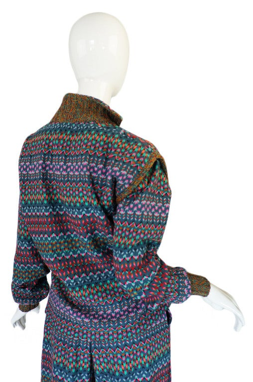 1970s Missoni Knit Jacket & Culotte Set image 6