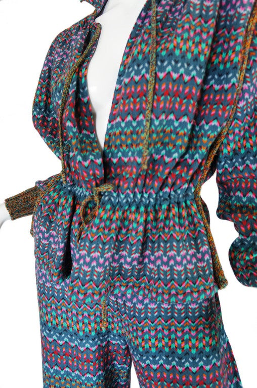 1970s Missoni Knit Jacket & Culotte Set image 7