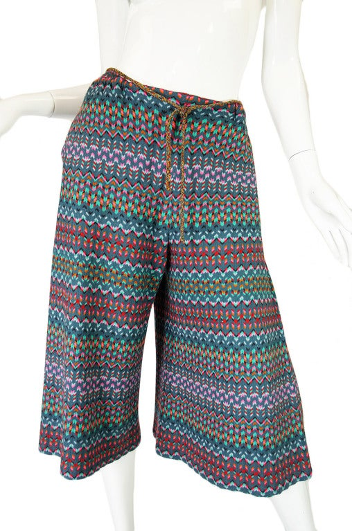 1970s Missoni Knit Jacket & Culotte Set image 8