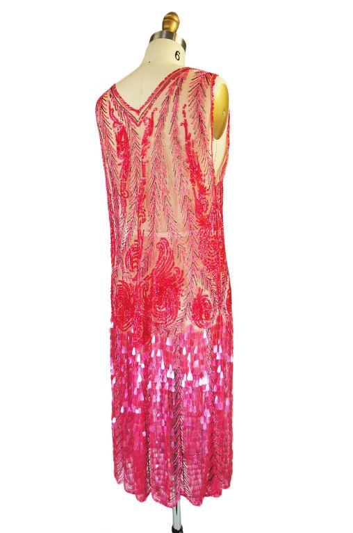 1920s Pink Sequin & Paillette Net Flapper image 5