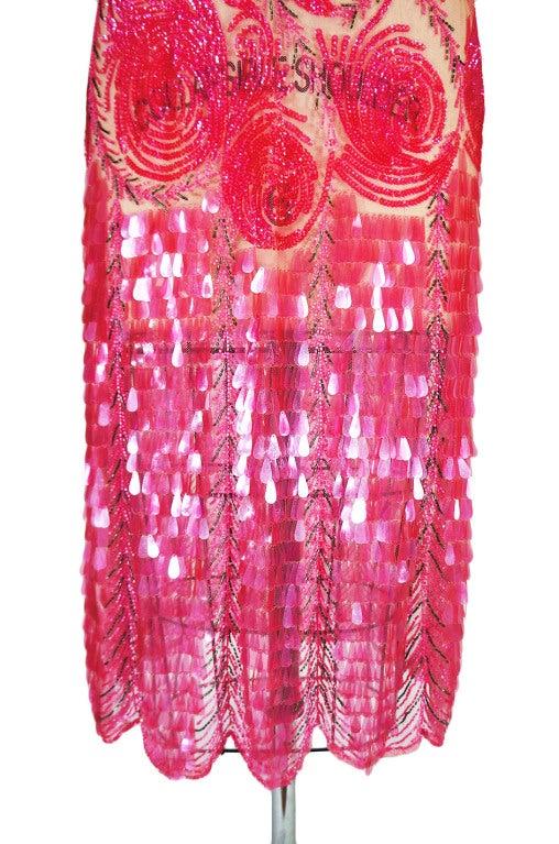 1920s Pink Sequin & Paillette Net Flapper image 6