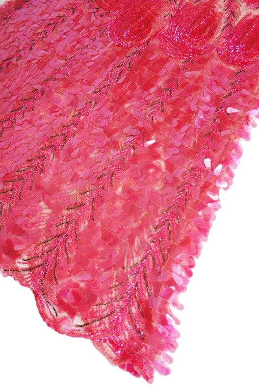 1920s Pink Sequin & Paillette Net Flapper image 8