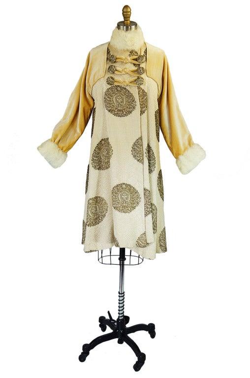 1920s Lame Brocade Velvet Flapper Coat 2