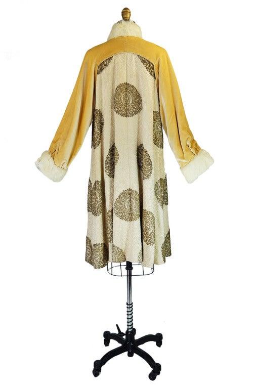 1920s Lame Brocade Velvet Flapper Coat 3