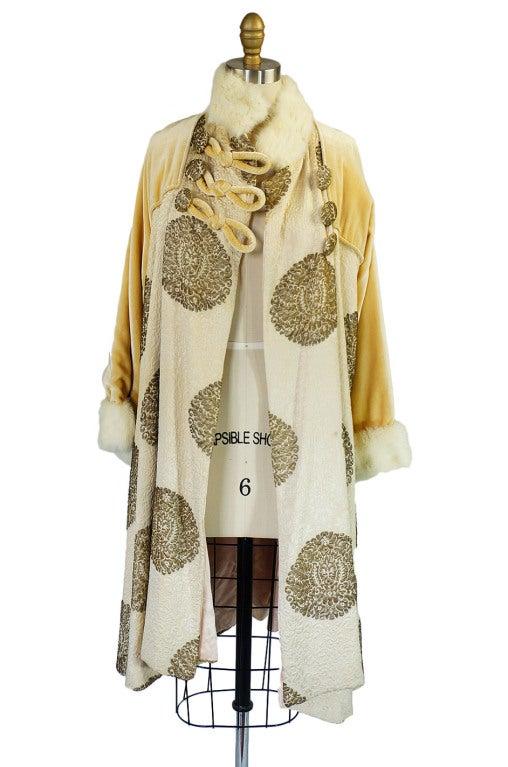 1920s Lame Brocade Velvet Flapper Coat 5