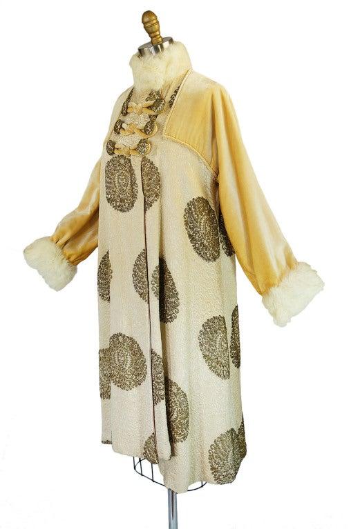 1920s Lame Brocade Velvet Flapper Coat 6