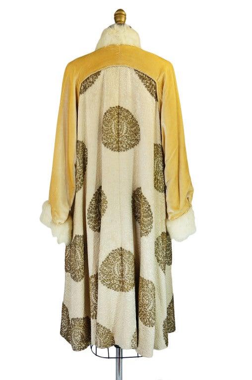 1920s Lame Brocade Velvet Flapper Coat 7