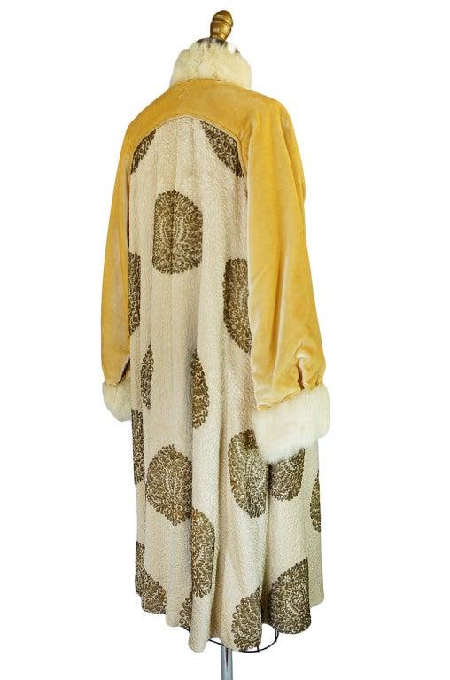 1920s Lame Brocade Velvet Flapper Coat 8
