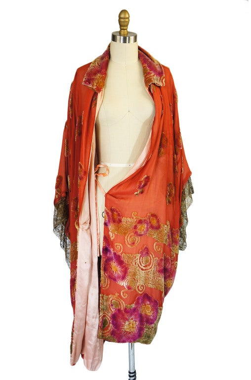 1920s Silk, Velvet & Gold Flapper Coat 6
