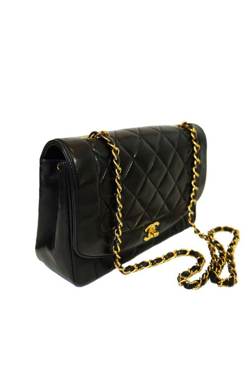 Vintage Black Classic Chanel Flap Bag 2