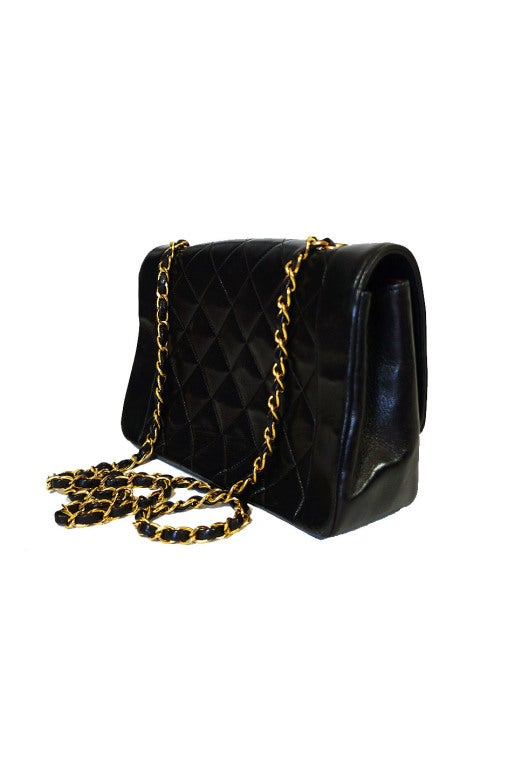 Vintage Black Classic Chanel Flap Bag 3