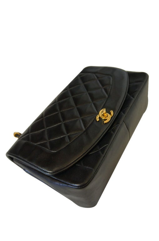 Vintage Black Classic Chanel Flap Bag 4