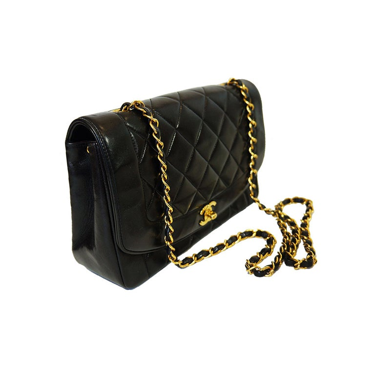 Vintage Black Classic Chanel Flap Bag 1