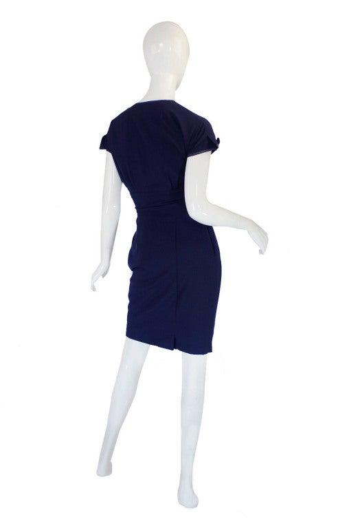 1950s Rare Hardies Amies Navy Bow Suit image 2