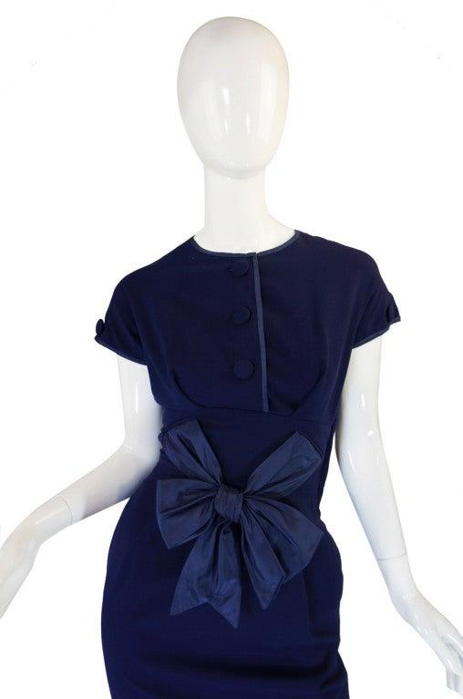 1950s Rare Hardies Amies Navy Bow Suit image 3