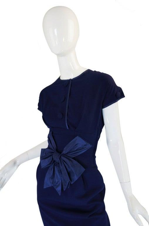 1950s Rare Hardies Amies Navy Bow Suit image 4
