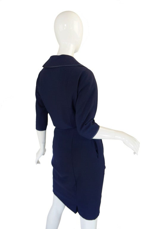 1950s Rare Hardies Amies Navy Bow Suit image 6