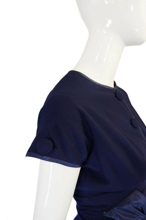 1950s Rare Hardies Amies Navy Bow Suit image 8