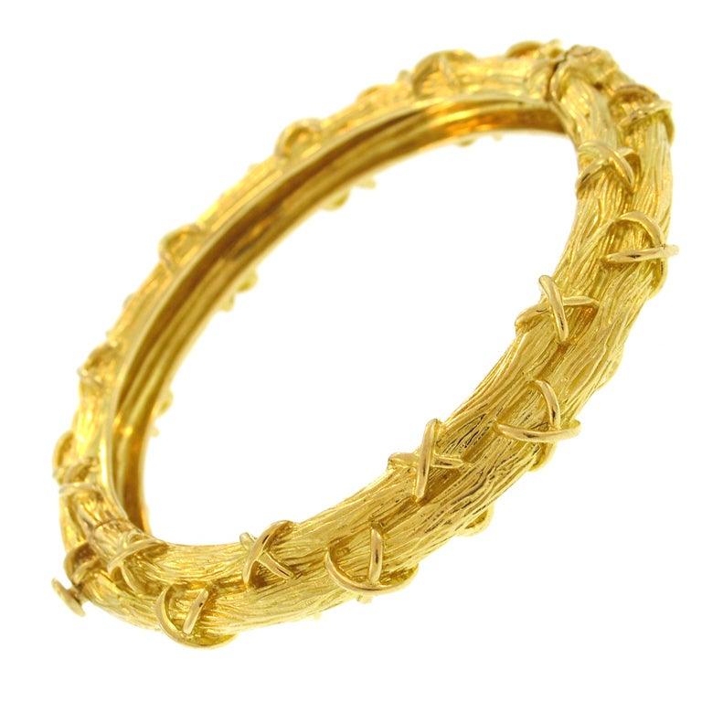tiffany and co gold bangle bracelet at 1stdibs