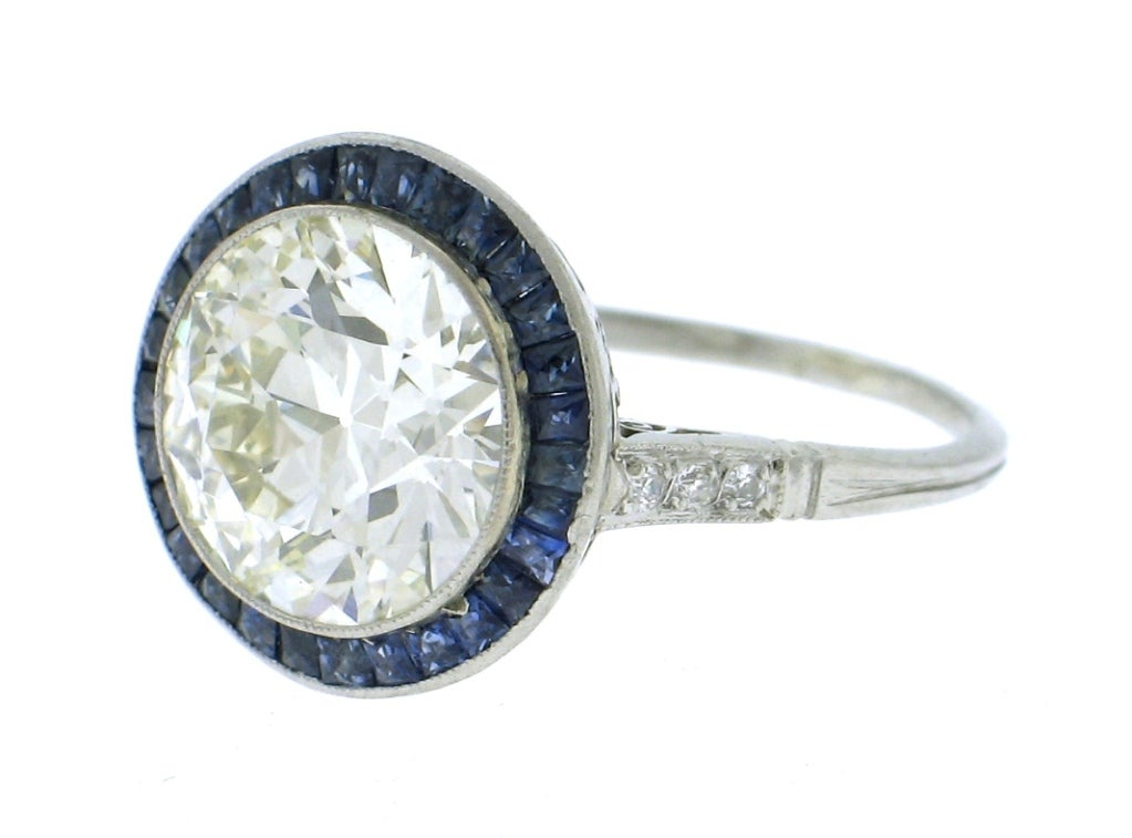 platinum and sapphire ring at 1stdibs
