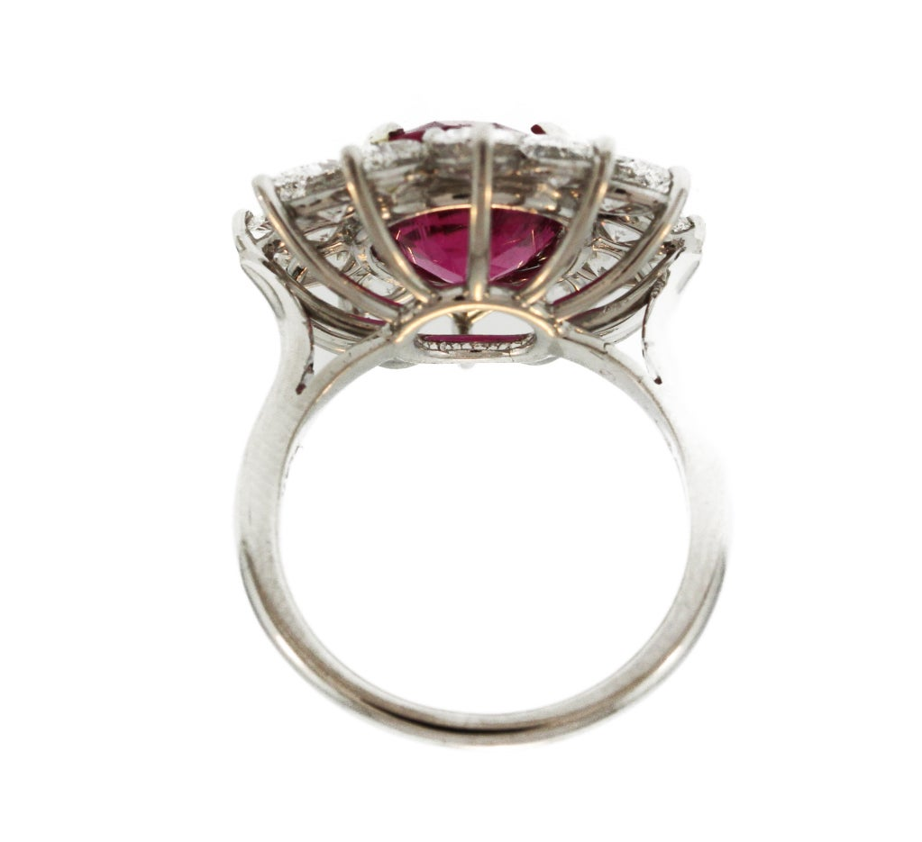 pink tourmaline and platinum ring at 1stdibs