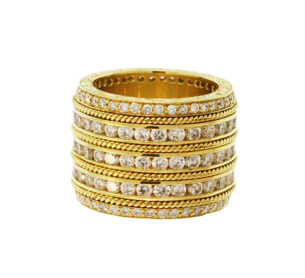 wide and gold band ring at 1stdibs