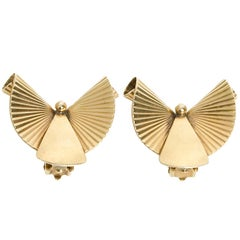 Gold Retro Earrings