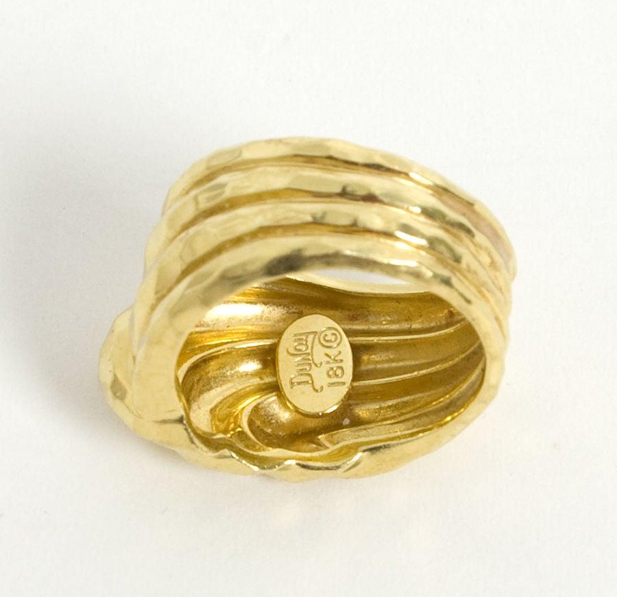 henry dunay hammered gold ring at 1stdibs