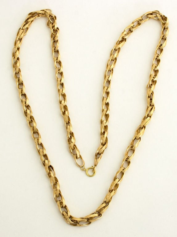 Women's Gold Chain with Unusual LInks For Sale