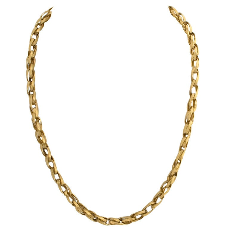 Gold Chain with Unusual LInks For Sale