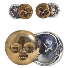 WILLIAM SPRATLING Sun and Moon Brooch and Earrings