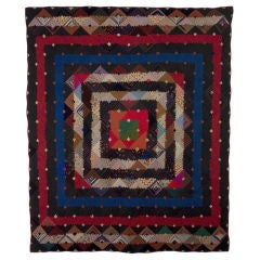 Barnraising Log Cabin Quilt on Square