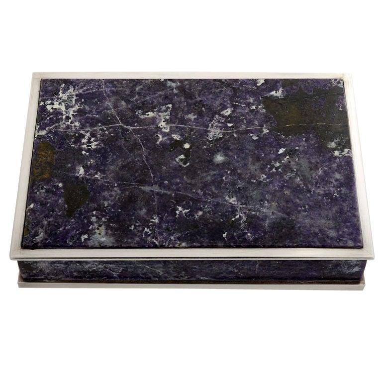 Ledesma Silver and Amethyst  Box