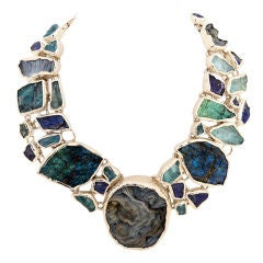 Huge Fabulous Necklace with Semi Precious Stones