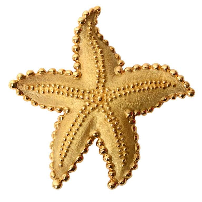 Gold Starfish Clipart Tiffany Gold Starfish Brooch