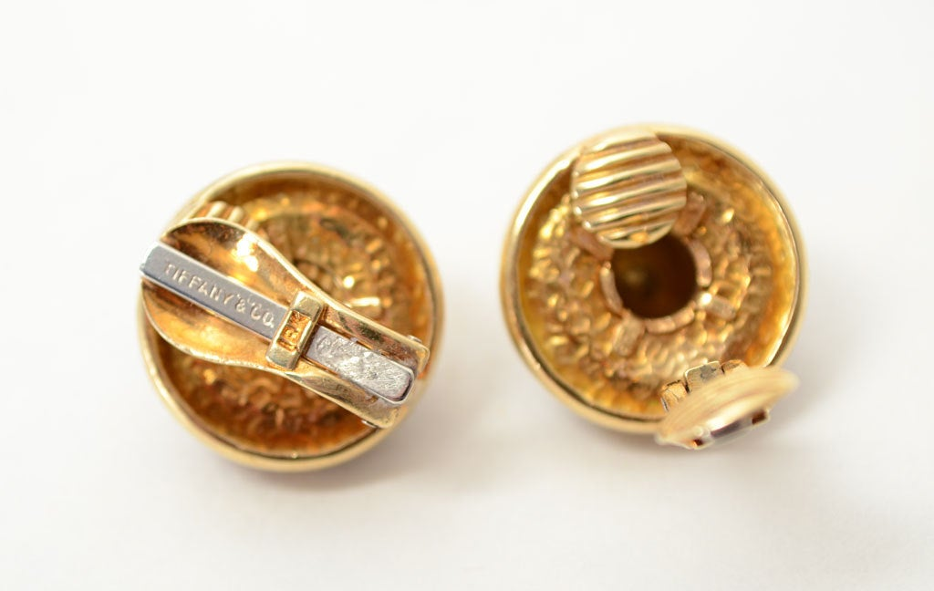 Tiffany & Co. Tiger's Eye Gold Earrings 2